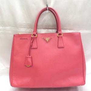 Prada PRADA Saffiano Galleria Clochette Pink Bag Tote Ladies