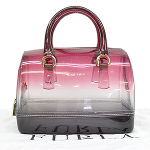 Furla Mini Handbag Bordeaux Vinyl Bag Ladies