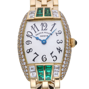 FRANCK MULLER Cintree Curvex Diamond Emerald Quartz Ladies Watch 2250QZ HJ