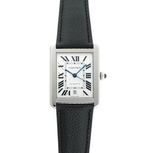 Cartier Tank Solo XL Automatic W5200027 Silver Dial Clock