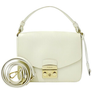 Furla Handbag Shoulder Bag 2way Ladies Leather White