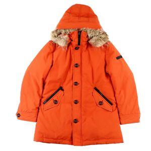 Burberry Black Label BURBERRY BLACK LABEL Down Coat Lining Plaid Zip Up Hood Fur LL