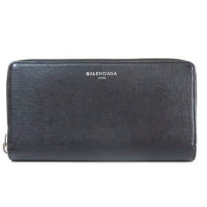 Balenciaga 392124 logo mark long wallet leather unisex