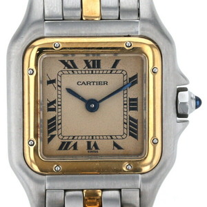 Cartier Panthère SM 1 Low Quartz Square Beige Dial Ladies Watch