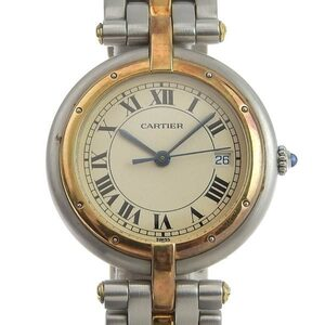 CARTIER Panthere 18K Gold Steel Quartz Mid Size Watch