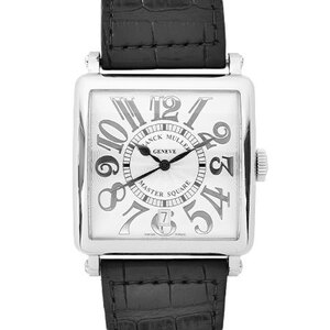 FRANCK MULLER Master Square Relief Steel Leather Automatic Mens Watch 6000HSCDTV