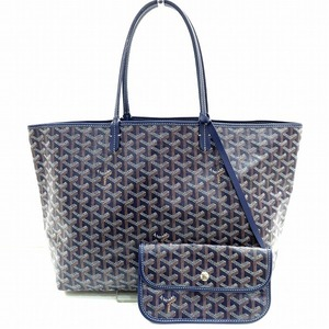 Goyard Saint Louis PM Navy PVC Bag Tote Ladies
