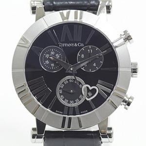 Tiffany & Co. Ladies Watch Atlas Chronograph Z1301.32.11A10A71A Black Dial Quartz