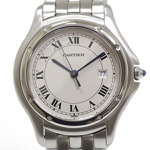 Cartier Boys Watch Panther Cougar LM Ivory Dial Quartz