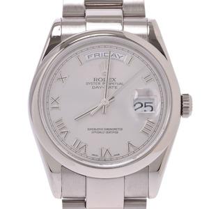 ROLEX ロレックス デイデイト 118209 メンズ WG 時計 自動巻き グレーローマ文字盤
