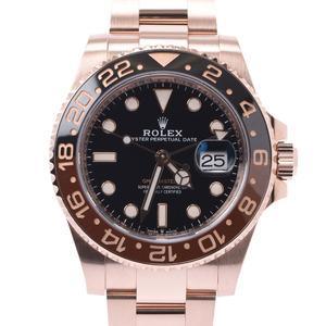 ROLEX ロレックス GMTマスター2 黒 ブラウンベゼル 126715CHNR メンズ エバーローズゴールド 時計 自動巻き 黒文字盤