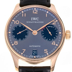 IWC Portuguese 7 Days Asia LTD Edition 18K Pink Gold Automatic Mens Watch IW500125