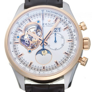 ZENITH El Primero Chronomaster Open 18K Pink Gold Steel Automatic Mens Watch 51.2160.4047