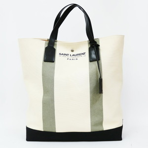 Saint Laurent Tote Bag Beach Shopping Moss Green Ladies