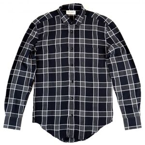 Yves Saint Laurent Saint Laurent Paris 16SS Damaged Check Shirt Gray 36 Men's Long Sleeve