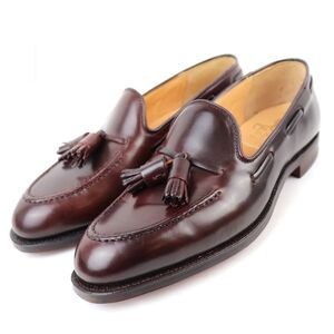 Crockett & Jones CAVENDISH 2 Cordovan Leather Tassel Loafers 6E Burgundy Men's CROCKETT JONES