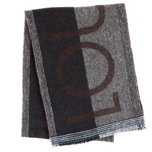 Louis Vuitton Escharp Grand Prix Muffler Cashmere Blend Wool Black Gray Brown