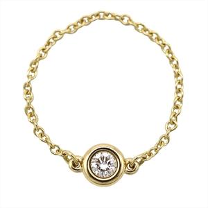 ティファニー(Tiffany) ダイヤモンド バイ ザ ヤード K18イエローゴールド(K18YG) エレガント ダイヤモンド 指輪・リング カラット/0.07 イエローゴールド(YG)
