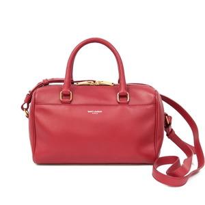 SAINT LAURENT Shoulder Bag Handbag Baby Duffle Red Ladies