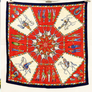 Hermes HERMES Carre 90 Russian Military Museum L'ARMEE IMPERI ALE RUSSE Silk Blue White Red