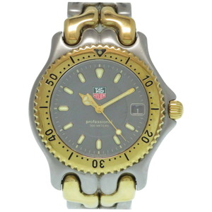 TAG Heuer Professional Cell WG1120-0 Quartz Watch Gray Gold Mens
