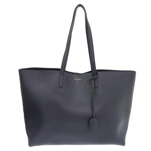 Saint Laurent tote bag leather dark navy