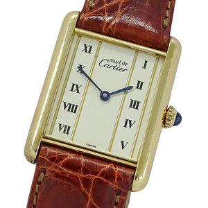Cartier Watch 590005 Mast Tank Vermeil 925 Square Ladies