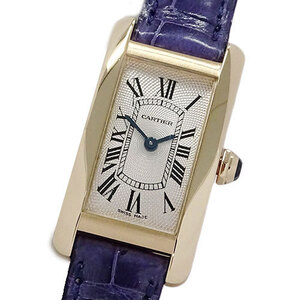Cartier Watch W2606436 Tank American SM Manual Winding 750PG Pink Gold Ladies