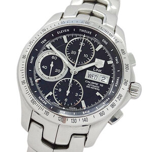 TAG Heuer watch CJF211A BA0594 link chronograph day-date self-winding men's back scale
