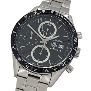 TAG Heuer Watch CV2010 BA0786 Carrera Tachymeter Chronograph Automatic Men's Back Scale