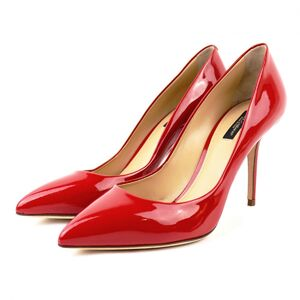 Dolce & Gabbana Pointed Toe Heel Pumps Women's Red 39 Patent Leather