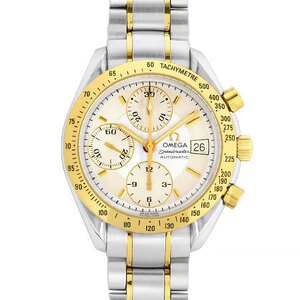 Omega OMEGA Speedmaster Date Chronograph Yellow Gold Combination Men's Watch Automatic Silver Dial 3313.30