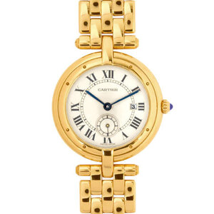 Cartier Panther Vendome K18 Yellow Gold Boys Watch Quartz Ivory
