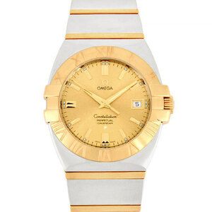 Omega OMEGA Constellation Double Eagle Perpetual Calendar Yellow Gold Men's Watch Quartz Dial 1213.10