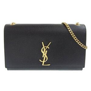 Saint Laurent Paris leather chain shoulder bag black