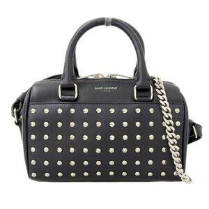 Saint Laurent Paris Toy Duffle Studs 2WAY Handbag Shoulder Leather Bag