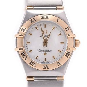 OMEGA オメガ コンステレーション ミニ 1362.70 レディース イエローゴールド ステンレススチール 時計 クォーツ シェル文字盤