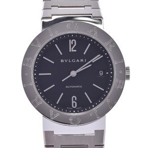 BVLGARI ブルガリ ブルガリブルガリ38 BB38ステンレススチールAUTO メンズ 時計 自動巻き 黒文字盤