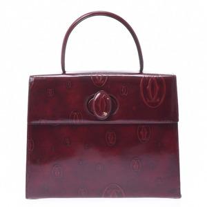 CARTIER Happy Birthday Top Handle Bordeaux Ladies Enamel Handbag