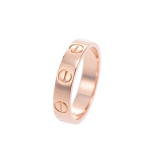 CARTIER Cartier Mini Love Ring # 45 No. 5 Ladies K18 Pink Gold /