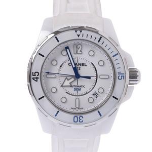 CHANEL シャネル J12 マリーン 38mm H2560 メンズ 白セラミック ラバー 時計 自動巻き 白文字盤