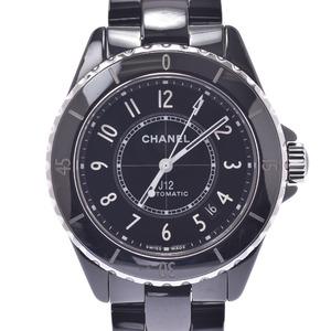 CHANEL シャネル J12 裏スケ H5697 メンズ 黒セラミック ステンレススチール 時計 自動巻き 黒文字盤