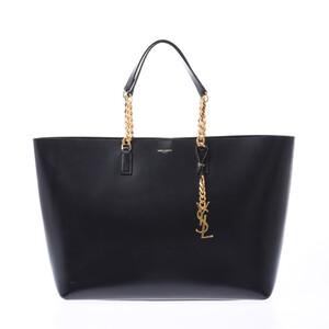SAINT LAURENT Black Ladies Calf Tote Bag