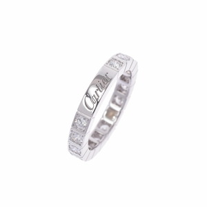 CARTIER Cartier Lanier Ring All Diamond No. 8 Ladies K18 White Gold /
