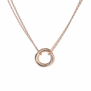4°C CARTIER Trinity Necklace Three Color Ladies K18 White Gold Pink Yellow