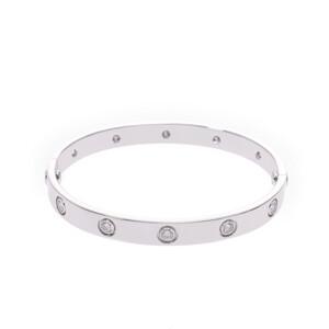 CARTIER Cartier love bracelet full diamond old unisex K18 white gold
