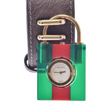 GUCCI Gucci padlock motif ladies watch YA150505 leather quartz shell dial