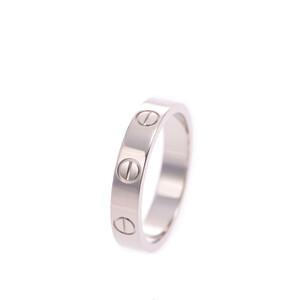 CARTIER Cartier Mini Love Ring # 50 Ladies K18 White Gold Rings /