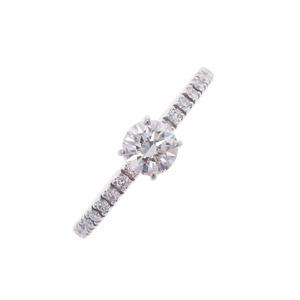 CARTIER Cartier Diamond 0.31ct # 45 Etincelle de Solitaire No. 5 Ladies Pt950 Platinum Ring /