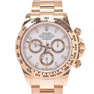 ROLEX Rolex Daytona 116508 Men's K18 Yellow Gold Watch Automatic White Dial